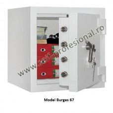 Burgas 1061 – seif clasa 5 antiefractie certificat EN 1143, 808 kg