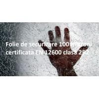Folie de securizare 100 microni transparenta certificata EN 12600